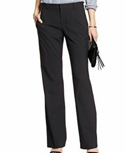 Banana Republic Navy Pinstriped Jackson Trousers